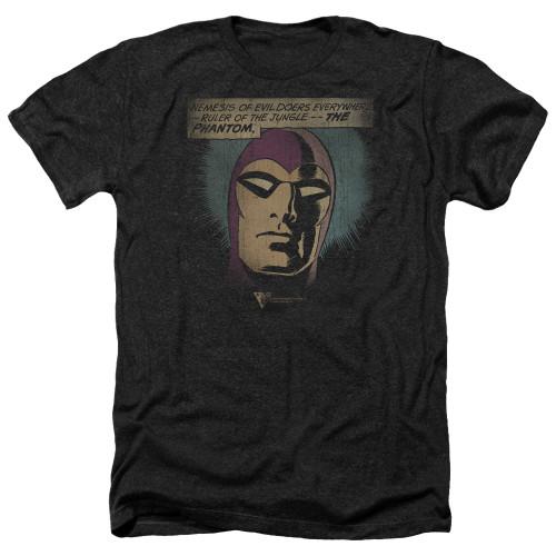 Image for The Phantom Heather T-Shirt - Evildoers Beware