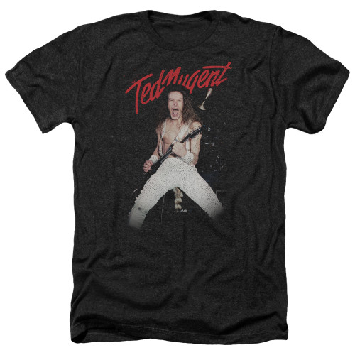 Image for Ted Nugent Heather T-Shirt - Rockin
