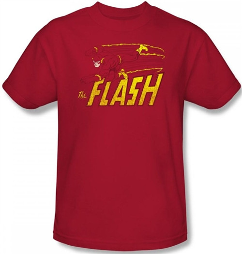 Image Closeup for Flash Speed Distressed T-Shirt