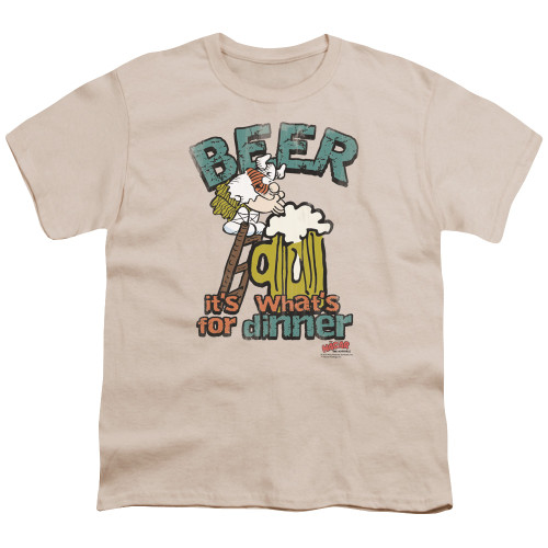 Image for Hagar The Horrible Youth T-Shirt - Beer, Dinner