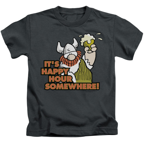 Image for Hagar The Horrible Kids T-Shirt - Happy Hour