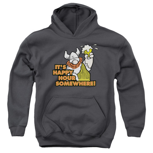 Image for Hagar The Horrible Youth Hoodie - Happy Hour