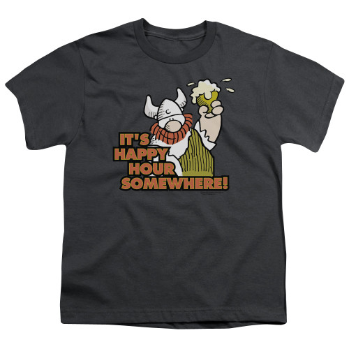 Image for Hagar The Horrible Youth T-Shirt - Happy Hour