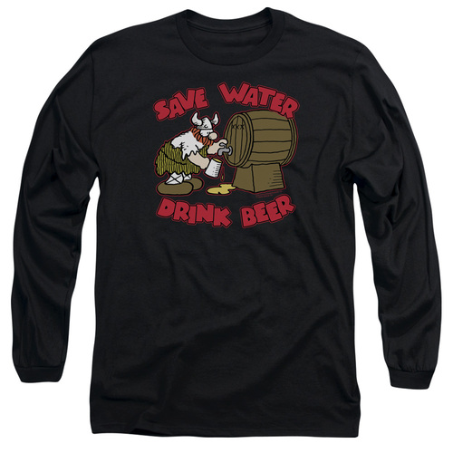 Image for Hagar The Horrible Long Sleeve Shirt - Save Water Drink Beer