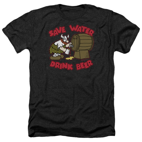 Image for Hagar The Horrible Heather T-Shirt - Save Water Drink Beer