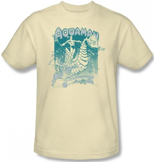 Image Closeup for Aquaman Catch a Wave T-Shirt