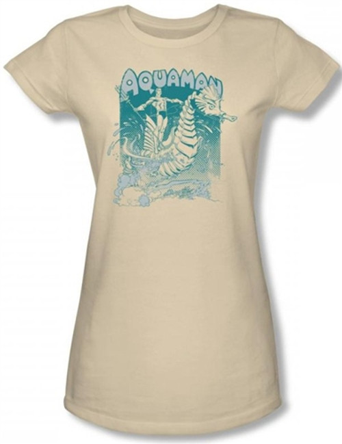 Image for Aquaman Catch a Wave Girls Shirt