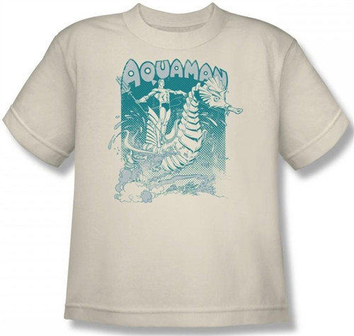 Image for Aquaman Catch a Wave Youth T-Shirt