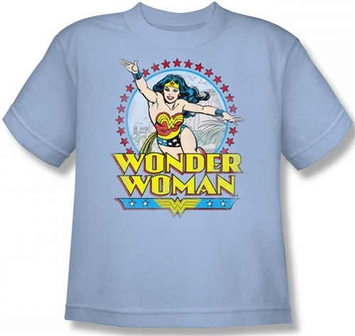 Image for Wonder Woman Star of Paradise Island Youth T-Shirt