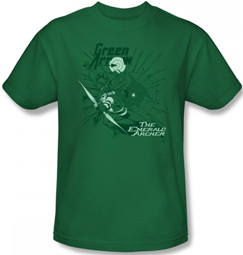 Image Closeup for Green Arrow the Emerald Archer T-Shirt