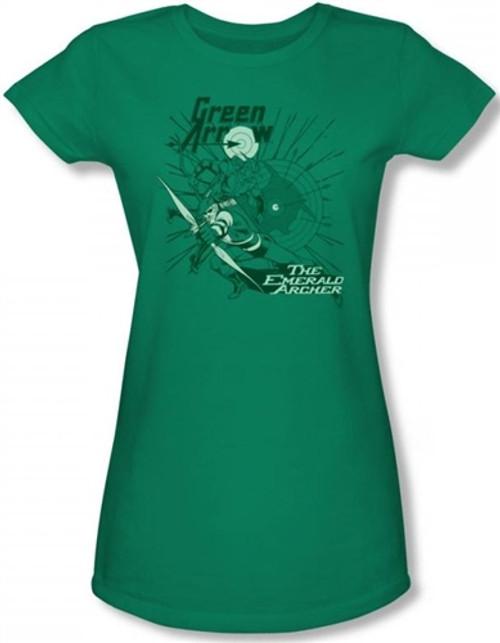 Image for Green Arrow the Emerald Archer Girls Shirt