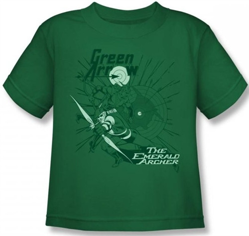 Image for Green Arrow the Emerald Archer Kid's T-Shirt