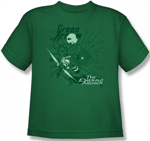 Image for Green Arrow the Emerald Archer Youth T-Shirt