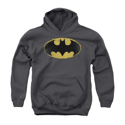 Image for Batman Youth Hoodie - Distressed Shield