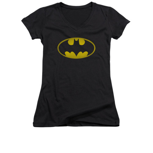 Image for Batman Girls V Neck - Washed Bat Logo