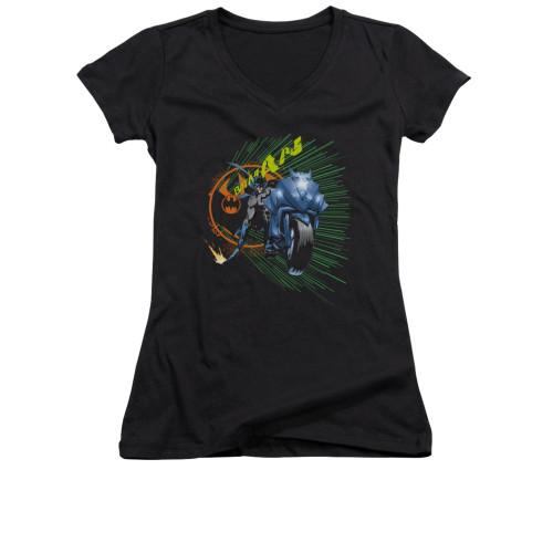 Image for Batman Girls V Neck - Batcycle