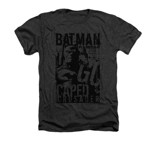 Image for Batman Heather T-Shirt - Caped Crusader