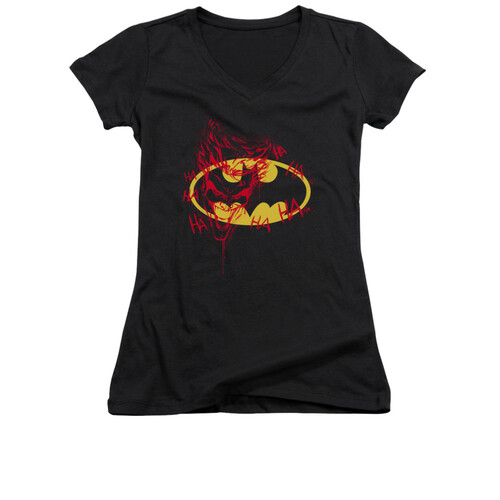 Image for Batman Girls V Neck - Joker Graffiti