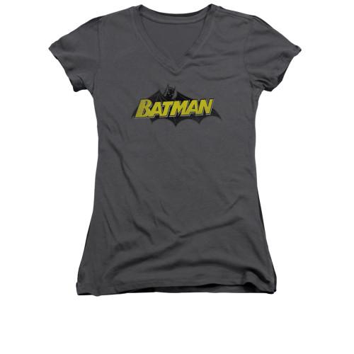 Image for Batman Girls V Neck - Classic Comic Logo