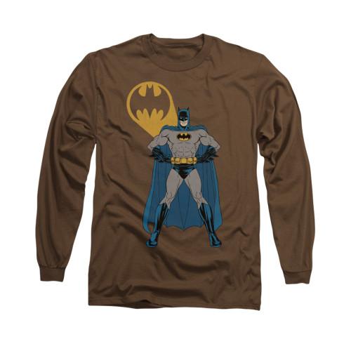 Image for Batman Long Sleeve Shirt - Arms Akimbo Bats