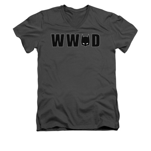Image for Batman V Neck T-Shirt - WWBD Mask