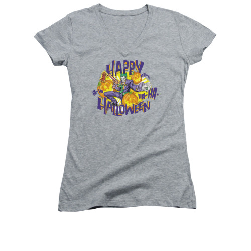Image for Batman Girls V Neck - Ha Ha Halloween