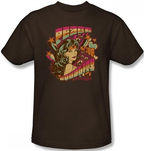 Image for Wonder Woman Peace, Love, & Equality T-Shirt
