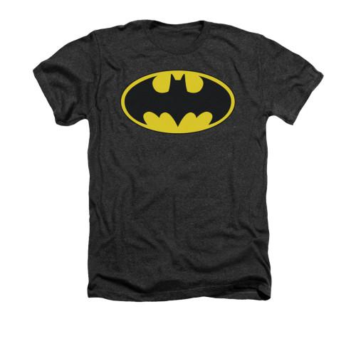 Image for Batman Heather T-Shirt - Classic Bat Logo