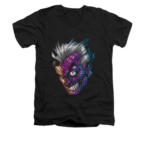 Image for Batman V Neck T-Shirt - Just Face