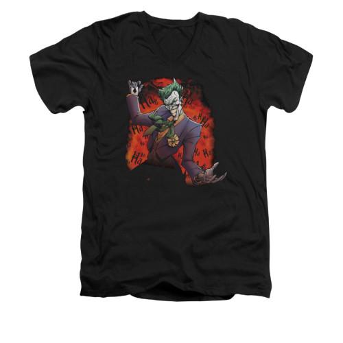 Image for Batman V Neck T-Shirt - Joker's Ave