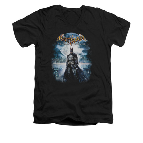 Image for Batman Arkham Asylum V Neck T-Shirt - Game Cover
