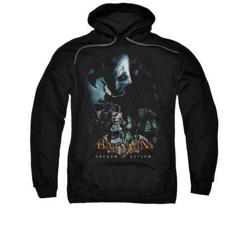 Image for Batman Arkham Asylum Hoodie - Five Against One
