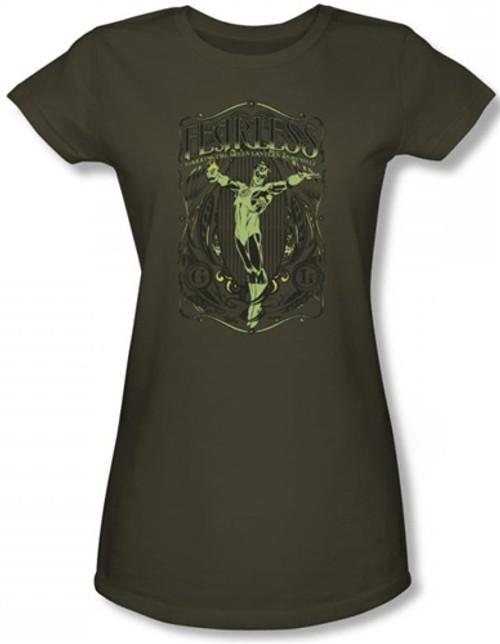 Image for Green Lantern Fearless Girls Shirt