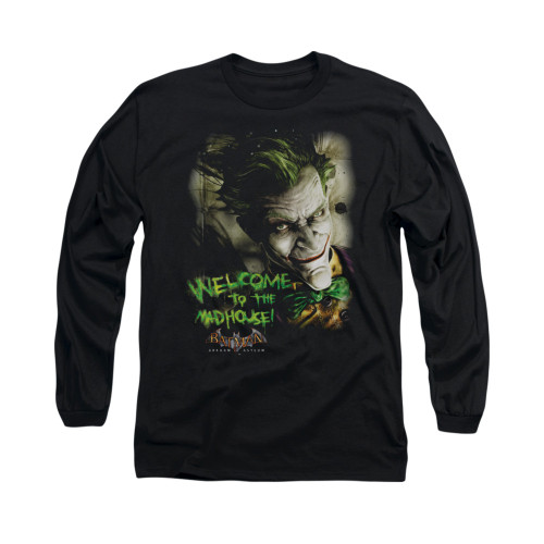 Image for Batman Arkham Asylum Long Sleeve Shirt - Welcome To The Madhouse