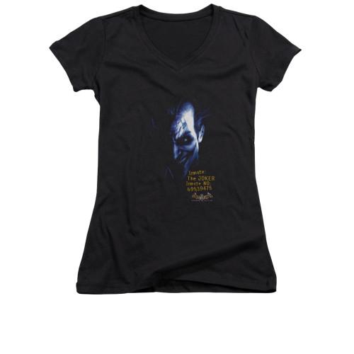 Image for Batman Arkham Asylum Girls V Neck - Arkham Joker