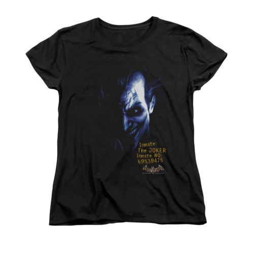 Image for Batman Arkham Asylum Womans T-Shirt - Arkham Joker
