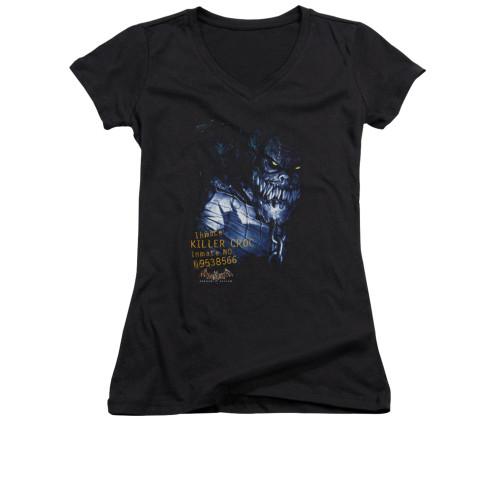 Image for Batman Arkham Asylum Girls V Neck - Arkham Killer Croc