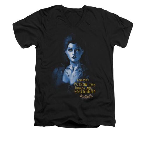 Image for Batman Arkham Asylum V Neck T-Shirt - Arkham Poison Ivy