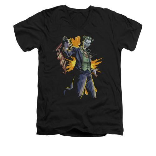 Image for Batman V Neck T-Shirt - Joker Bang