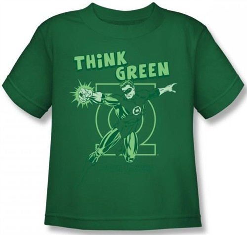 Image for Green Lantern Think Green Kid's T-Shirt