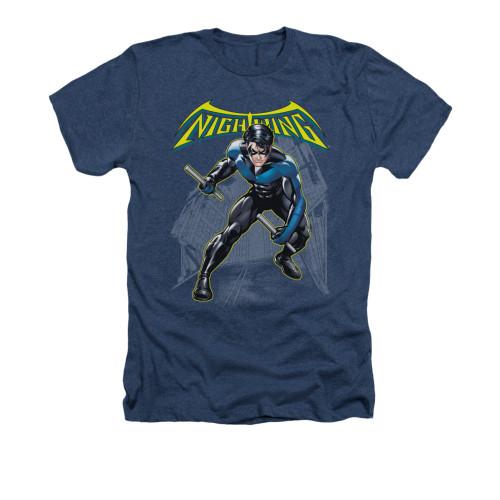 Image for Batman Heather T-Shirt - Nightwing