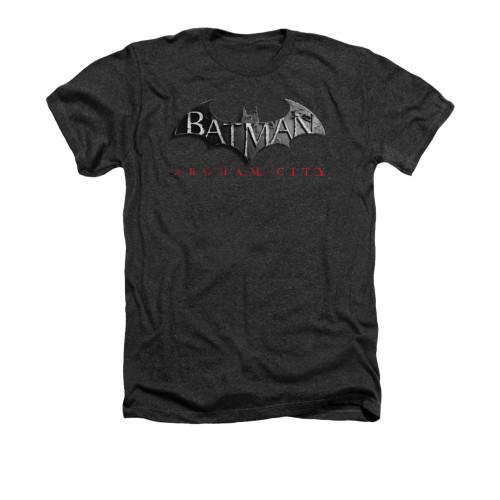 Image for Arkham City Heather T-Shirt - Logo
