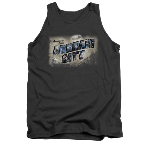 Image for Arkham City Tank Top - Greetings From Arkham