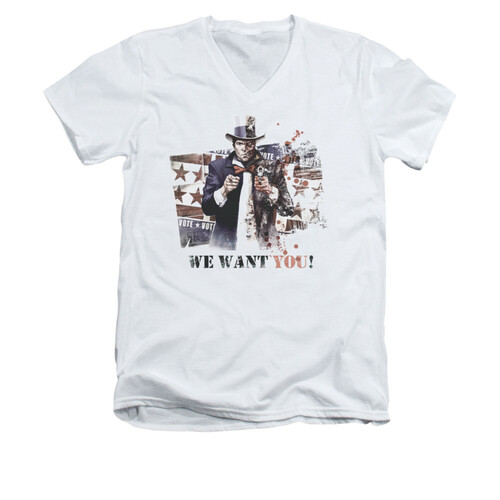 Image for Arkham City V Neck T-Shirt - We Want You