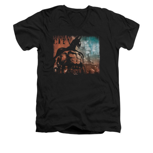 Image for Arkham City V Neck T-Shirt - City Knockout