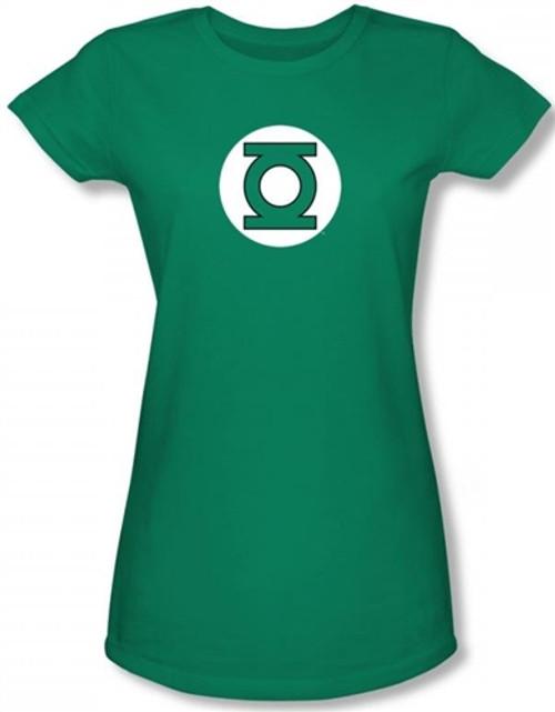 Image for Green Lantern Logo Girls Shirt