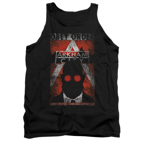 Image for Arkham City Tank Top - Obey Order Poster