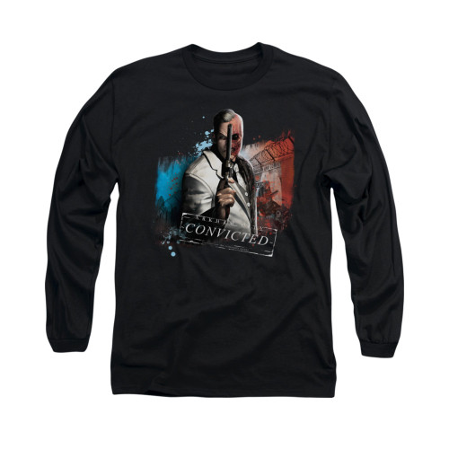 Image for Arkham City Long Sleeve Shirt - Two Face