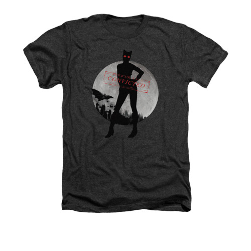 Image for Arkham City Heather T-Shirt - Catwoman Convicted
