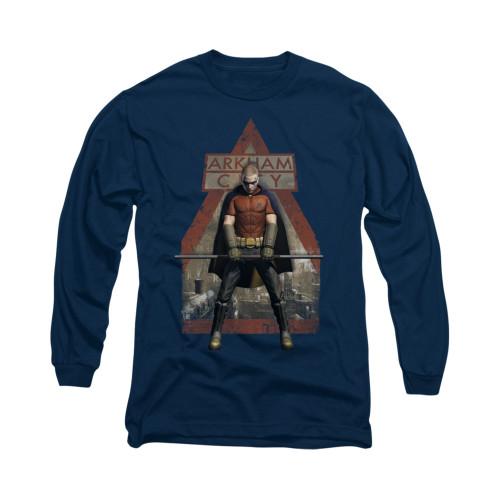 Image for Arkham City Long Sleeve Shirt - Arkham Robin